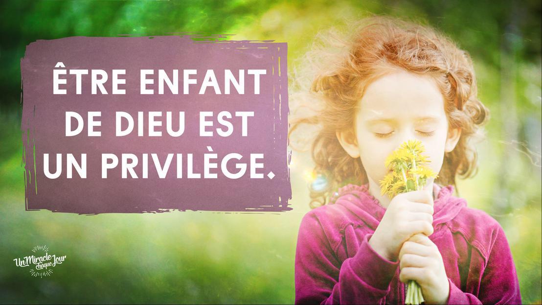 Populaire Être un enfant de Dieu c'est un privilège | Abisezerano ZZ55